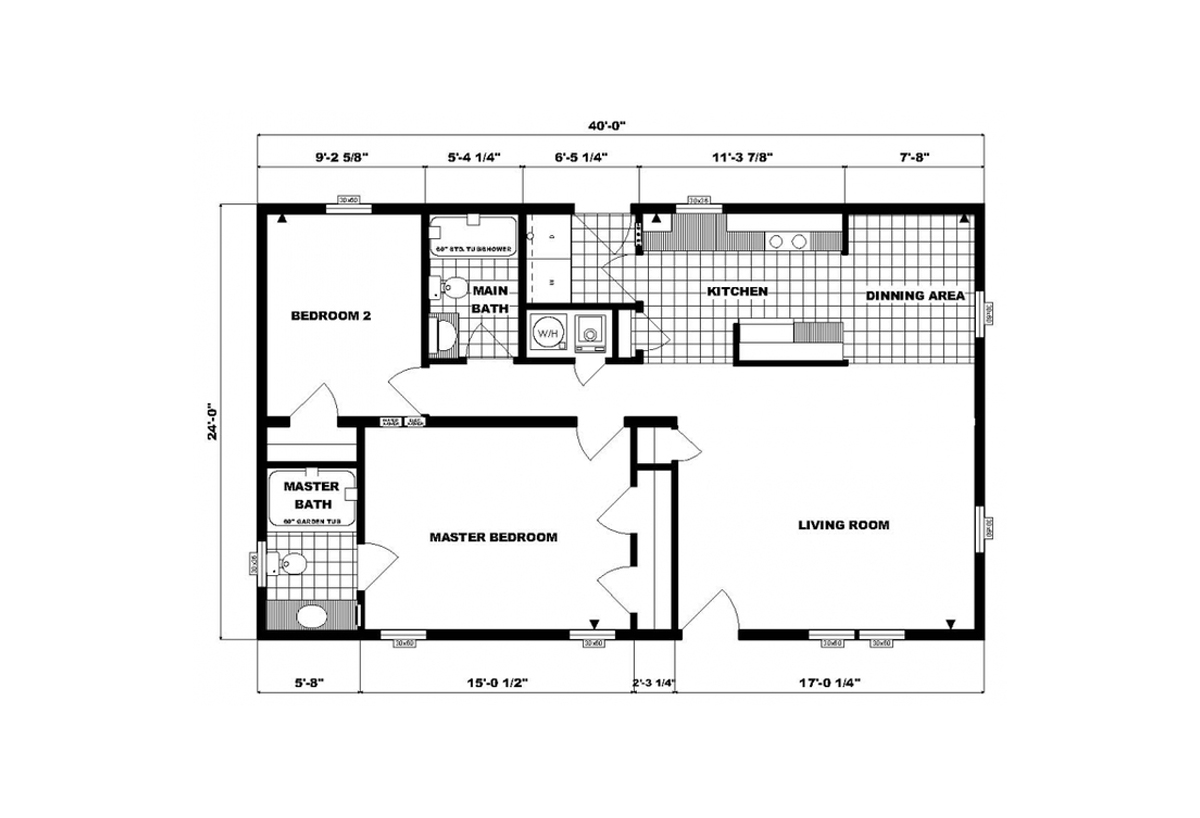 Ranch Homes G-202 Layout