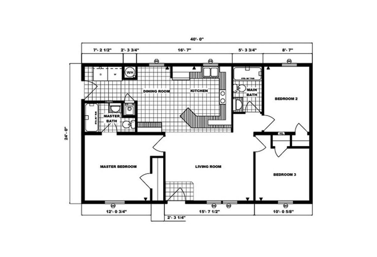 Ranch Homes G-201 Layout