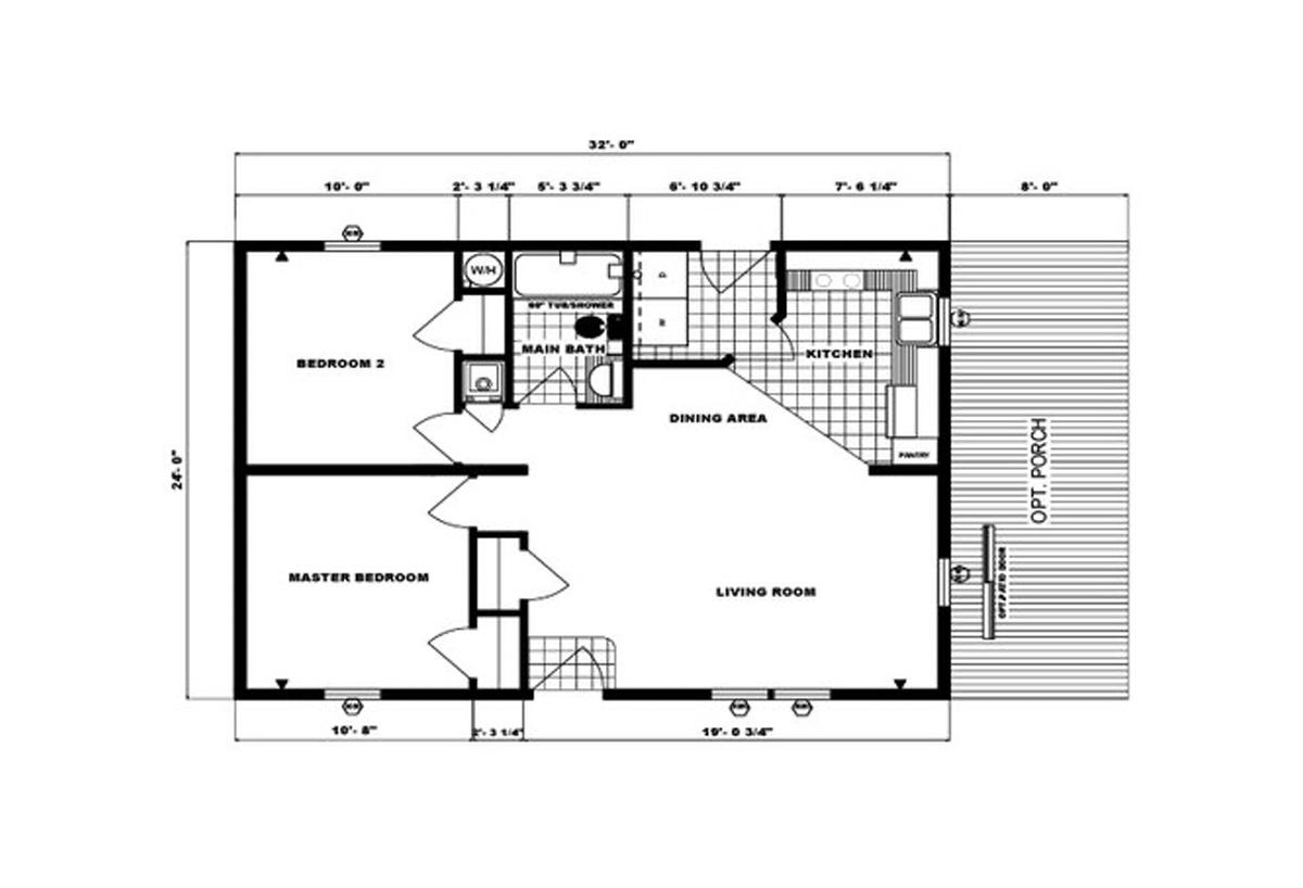 Ranch Homes G-291 Layout