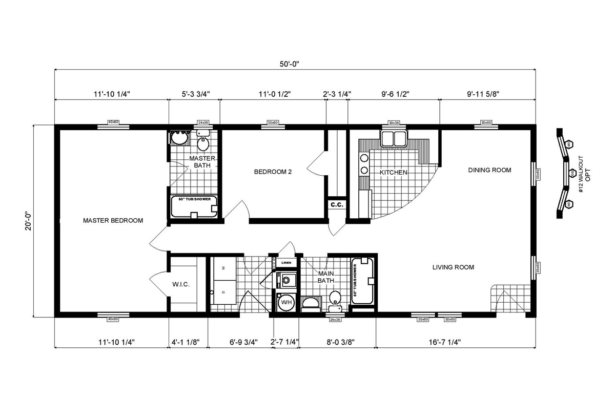 Ranch Homes GH-138 Layout