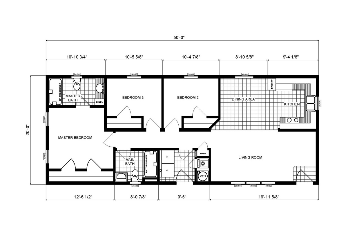 Ranch Homes GH-136 Layout