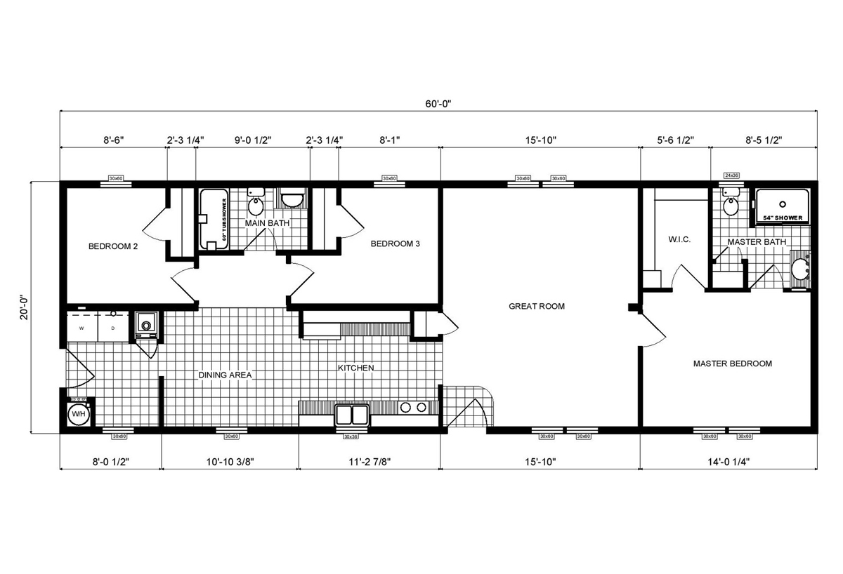 Ranch Homes GH-184 Layout