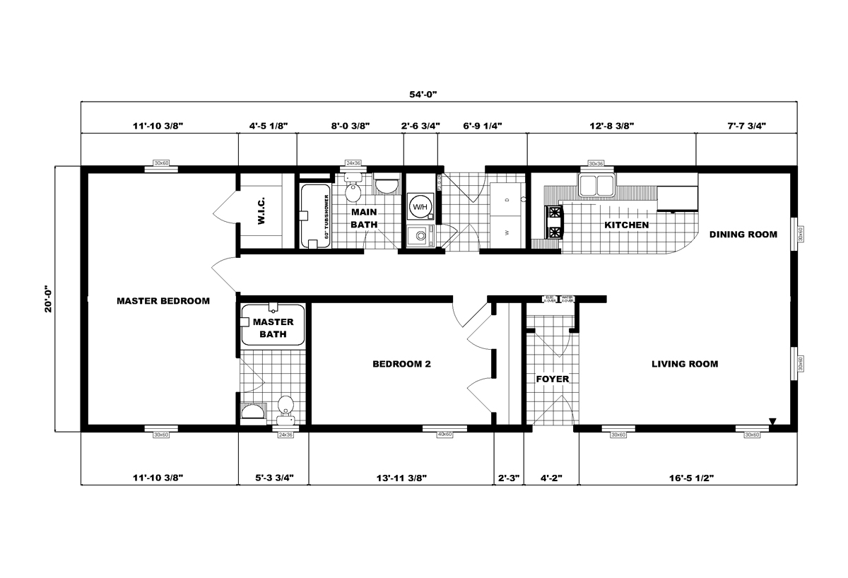 Ranch Homes G-132 Layout
