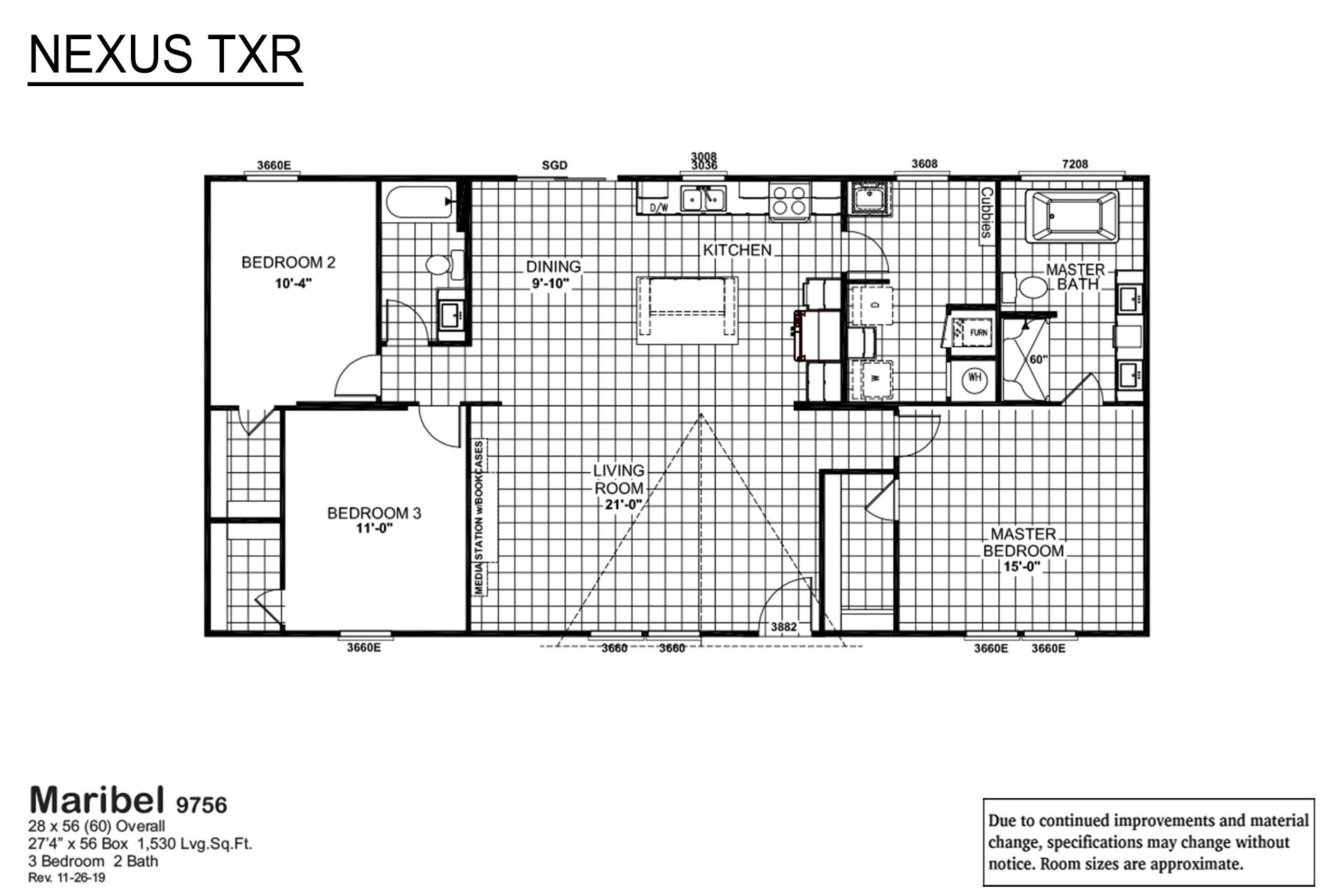 Nexus TXR Maribel 9756 Layout