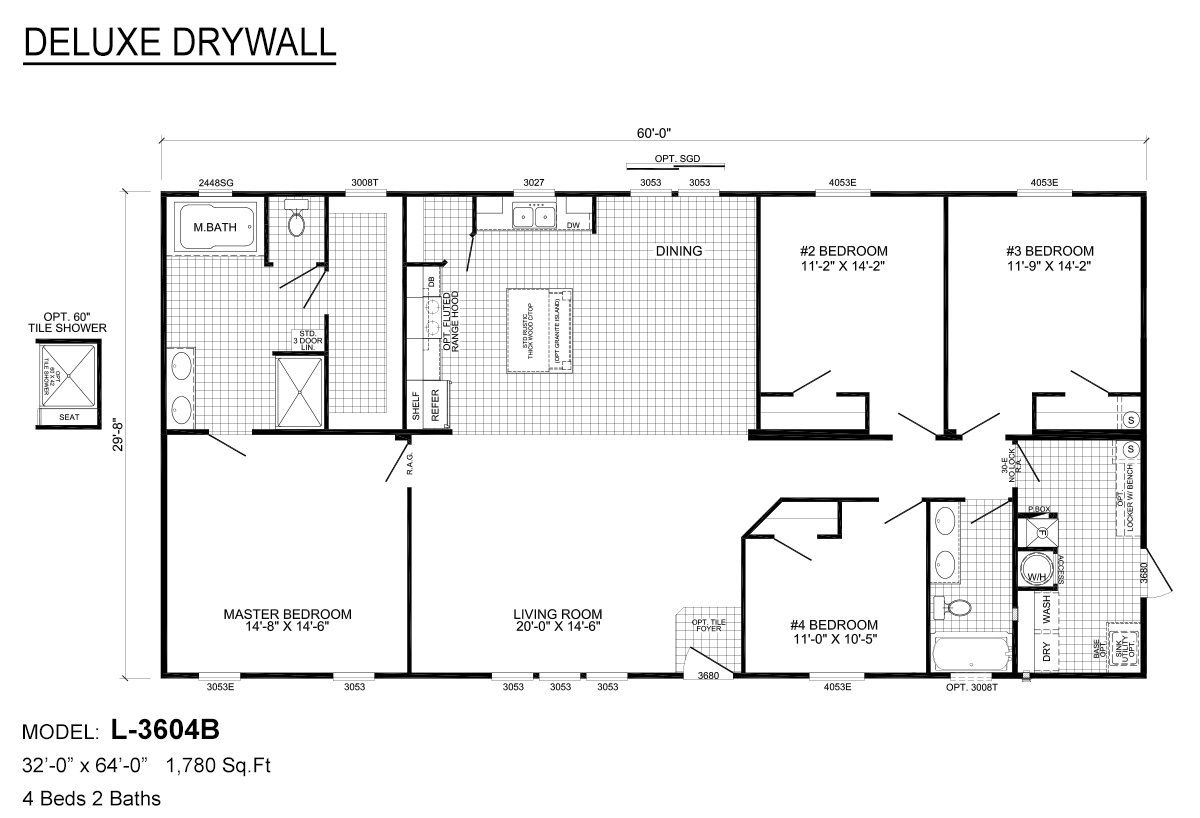 Deluxe Drywall L-3604B Layout