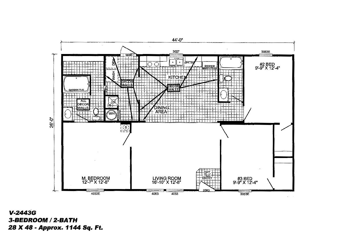 Runner Series The Hamilton V 2443g By Live Oak Homes