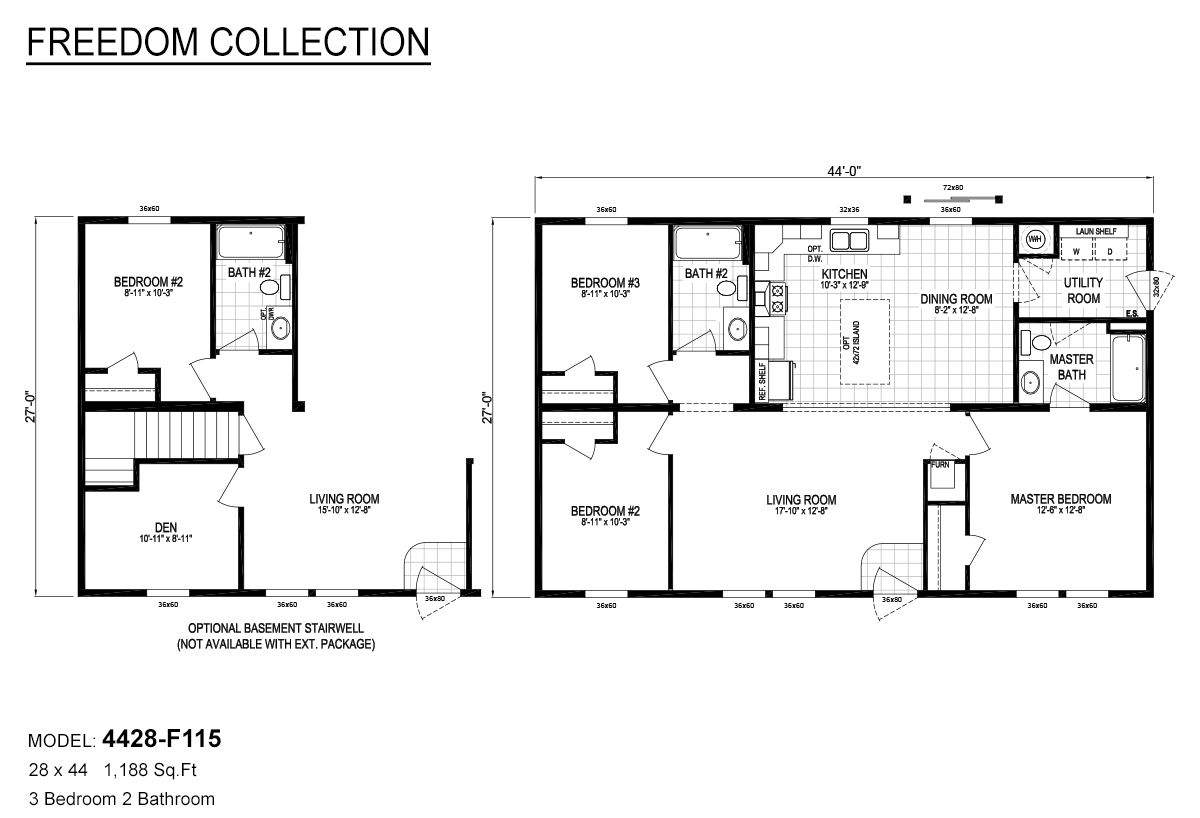 Freedom Collection 4428-F115 Layout