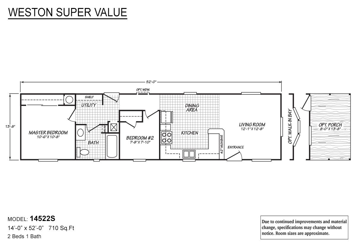 Weston Super Value 14522S Layout