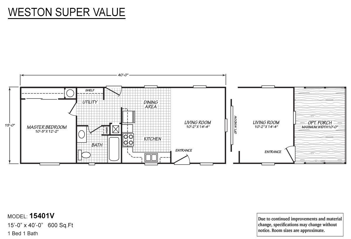 Weston Super Value 15401V Layout
