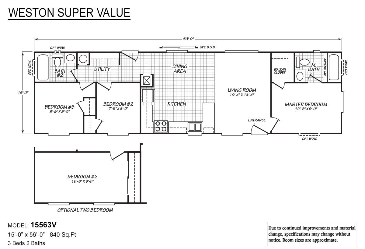 Weston Super Value 15563V Layout