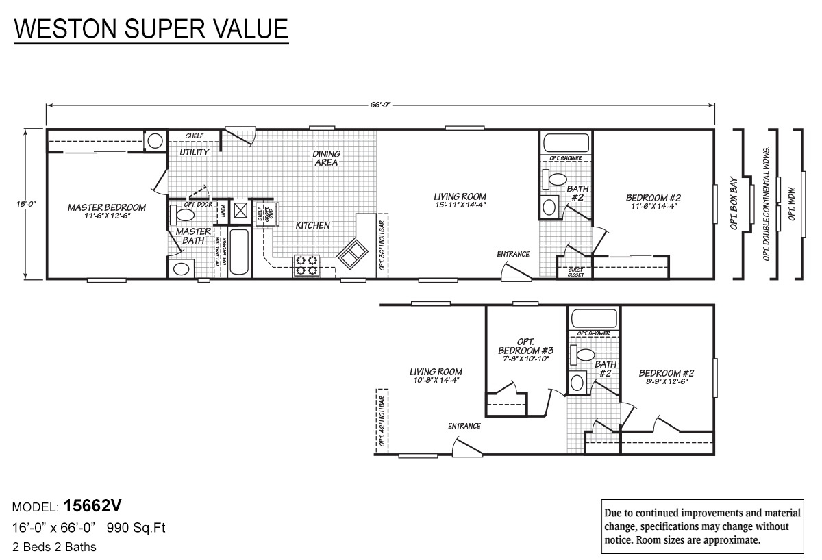 Weston Super Value 15662V Layout