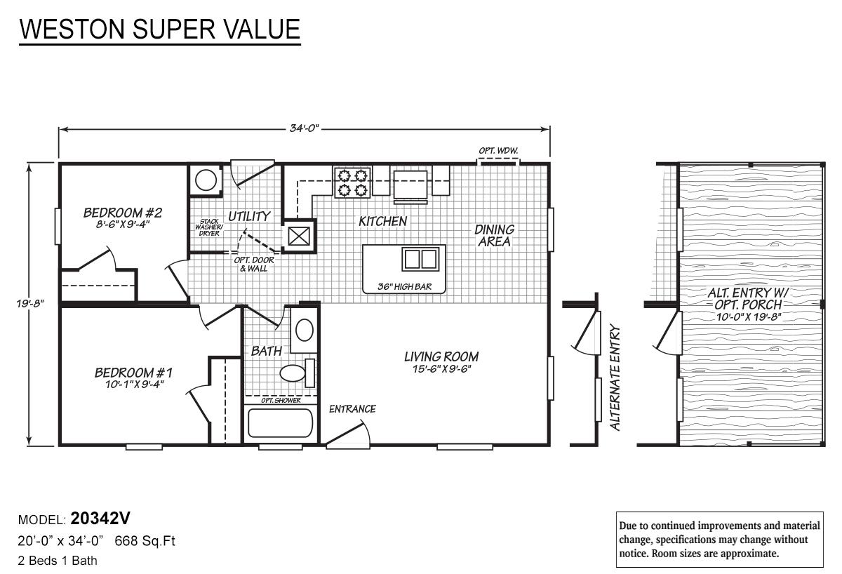 Weston Super Value 20342V Layout