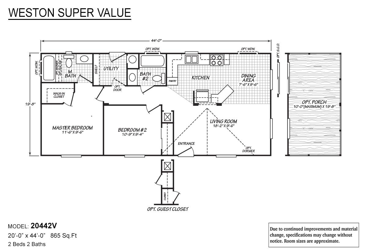 Weston Super Value 20442V Layout