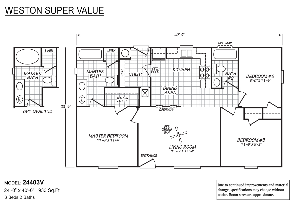 Weston Super Value - 24403V
