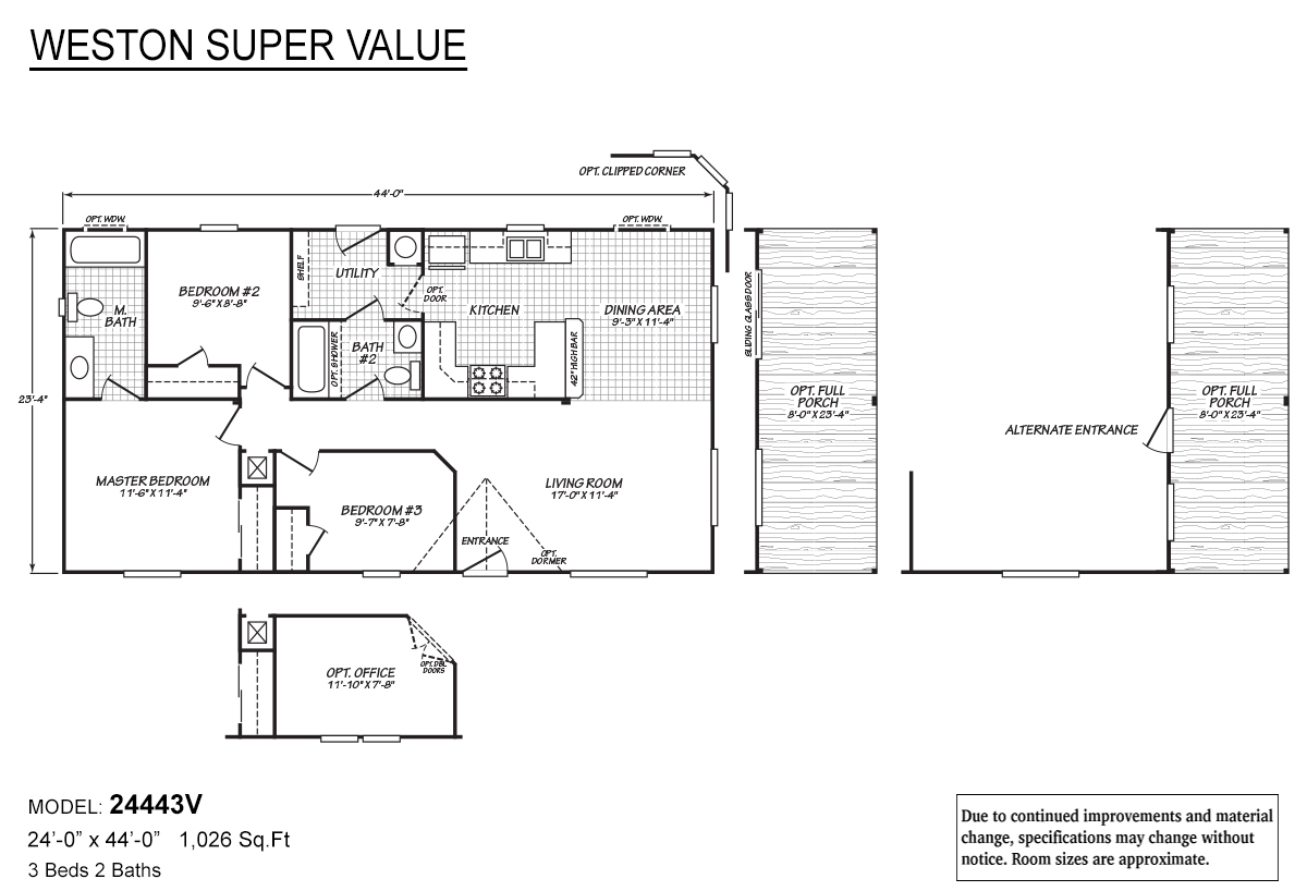 Weston Super Value 24443V Layout