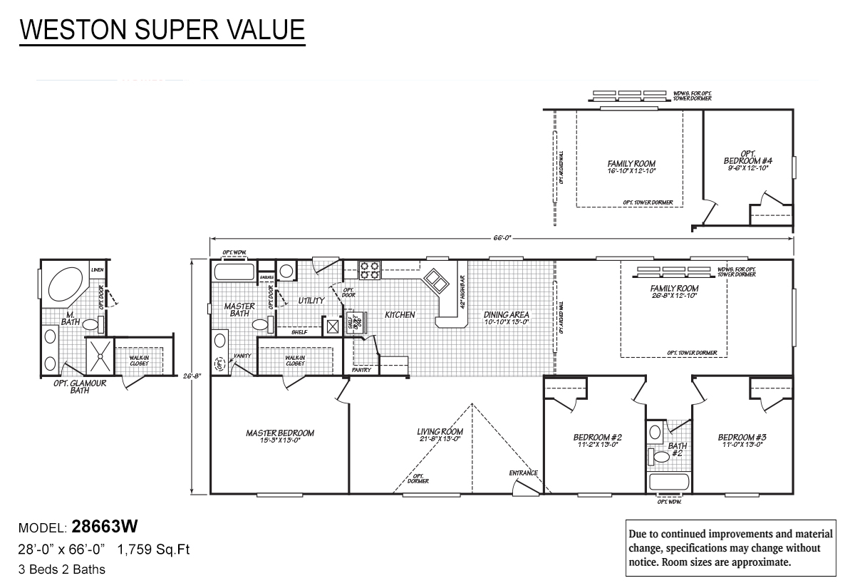 Weston Super Value 28663W Layout