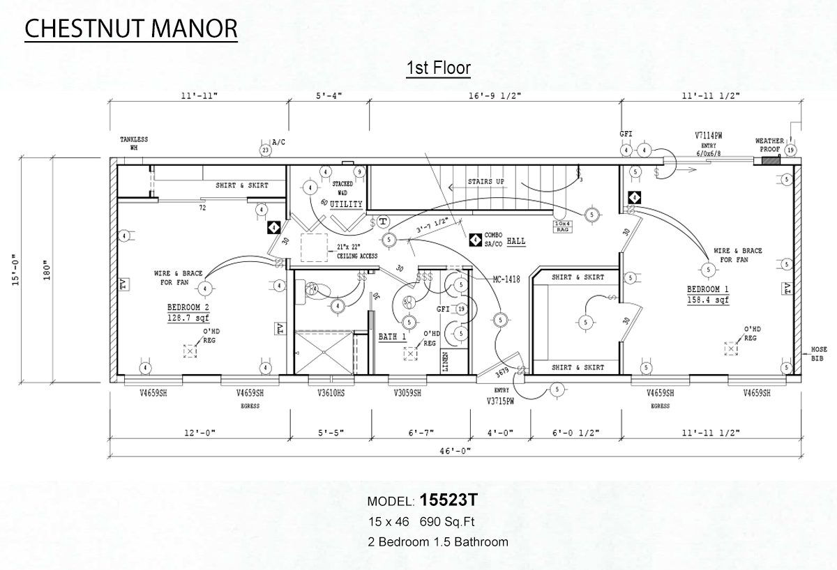Chestnut Manor - 15523T Custom