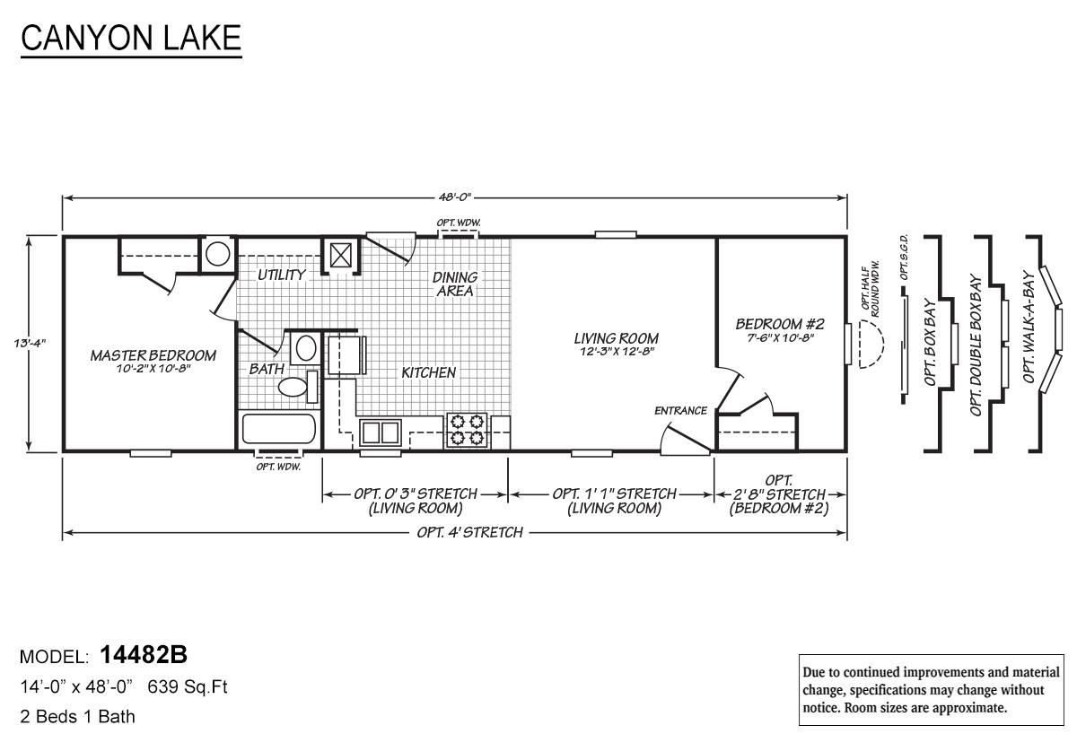 Canyon Lake 14482B Layout