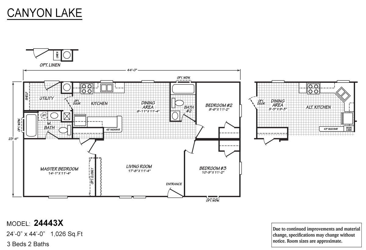 Canyon Lake 24443X Layout