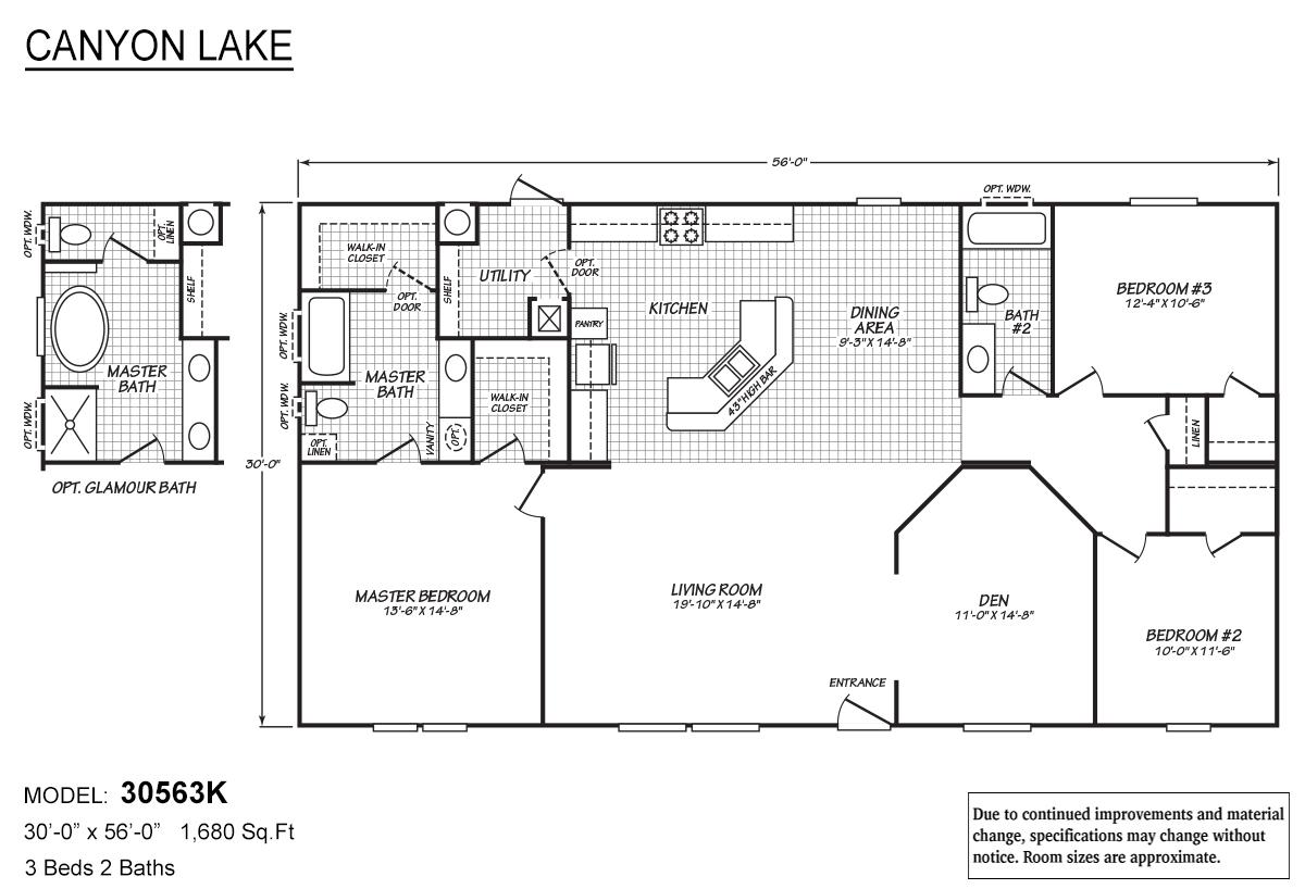 Canyon Lake 30563K Layout
