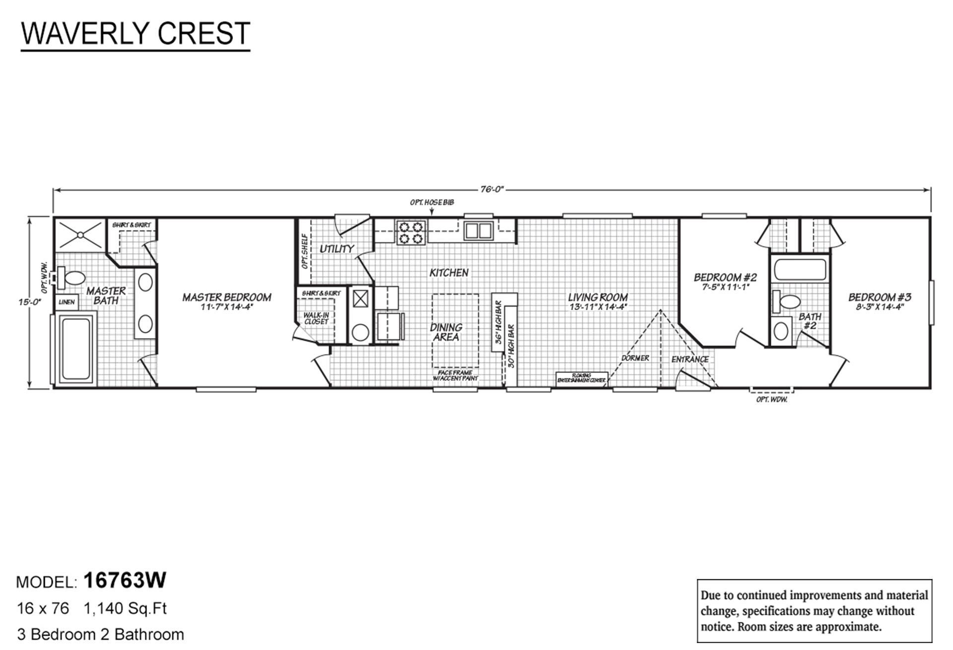Waverly Crest 16763W Layout