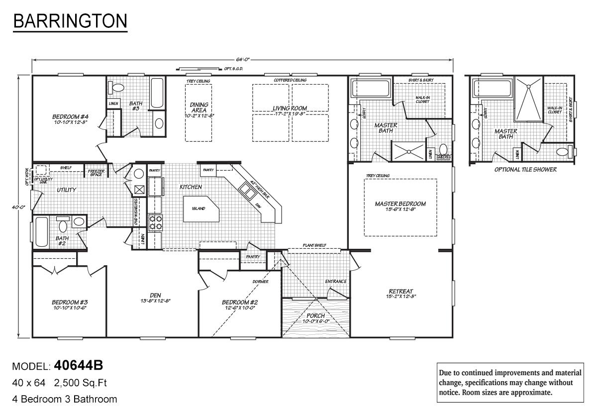 Barrington 40644B Layout