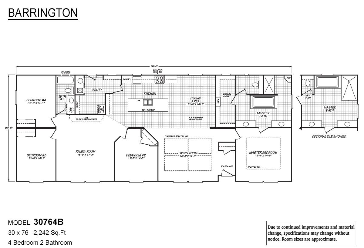 Barrington 30764B Layout