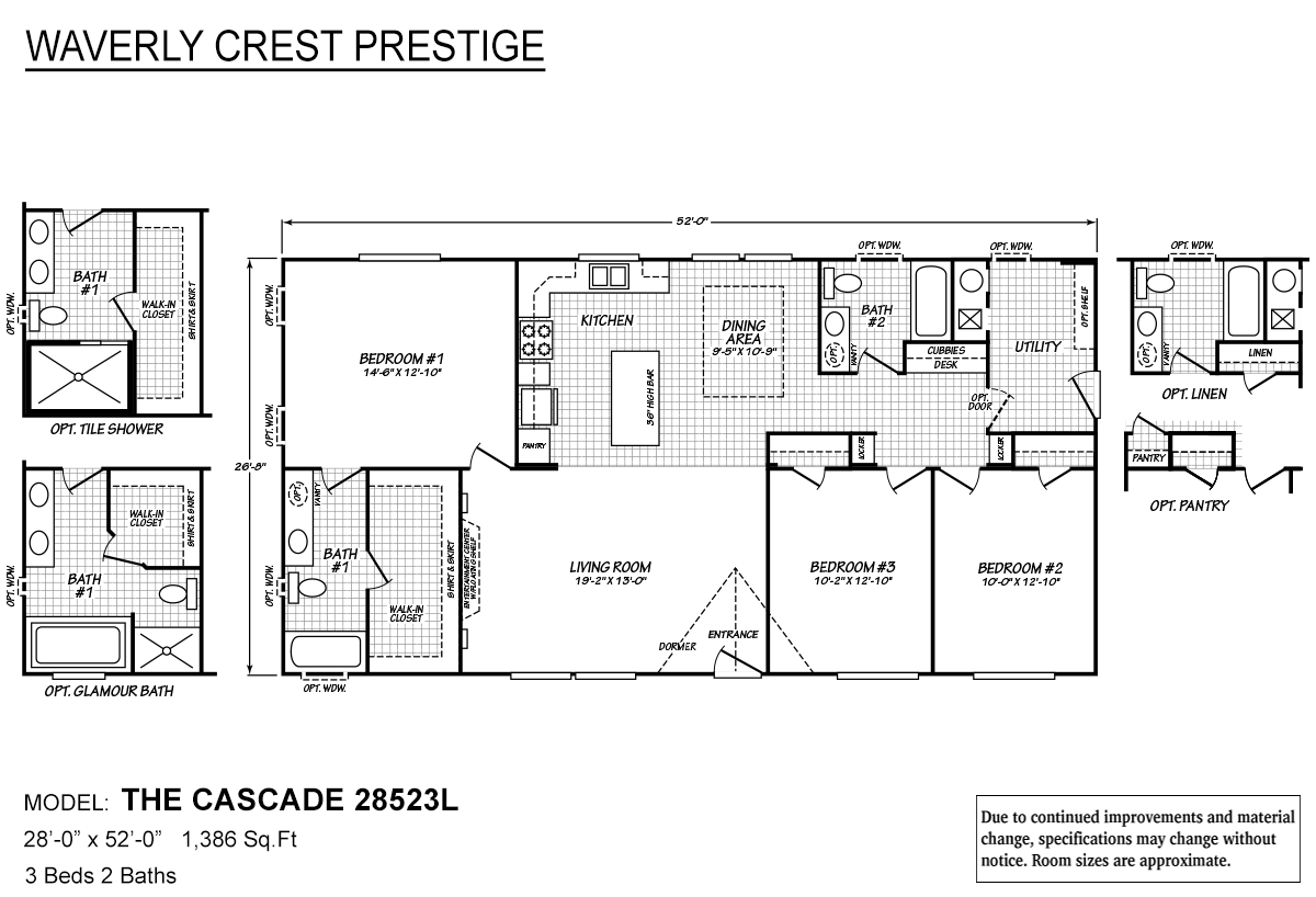Waverly Crest Prestige 28523L The Cascade Layout
