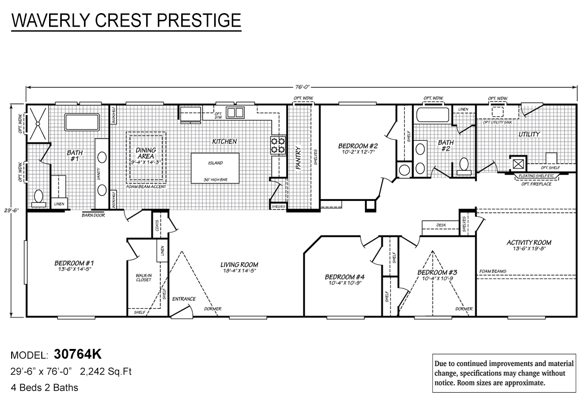 Waverly Crest Prestige 30764K Layout