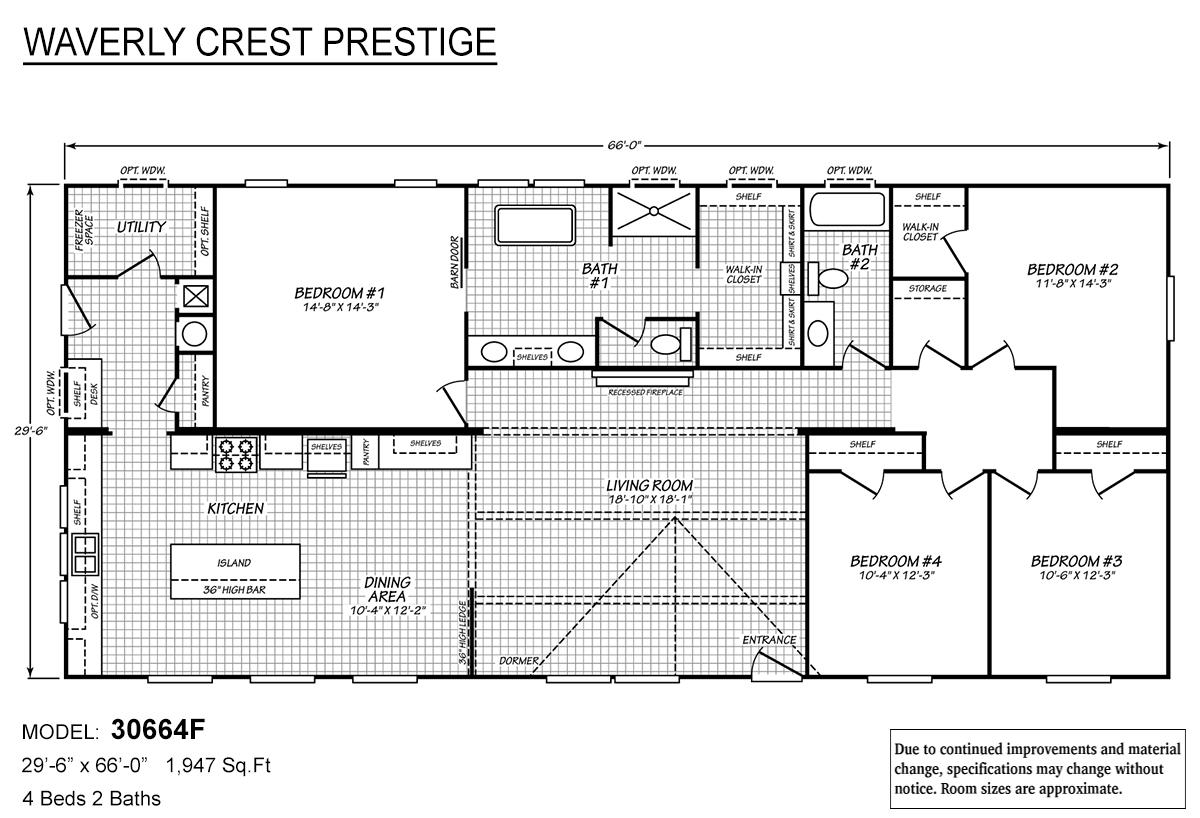 Waverly Crest Prestige 30664F Layout