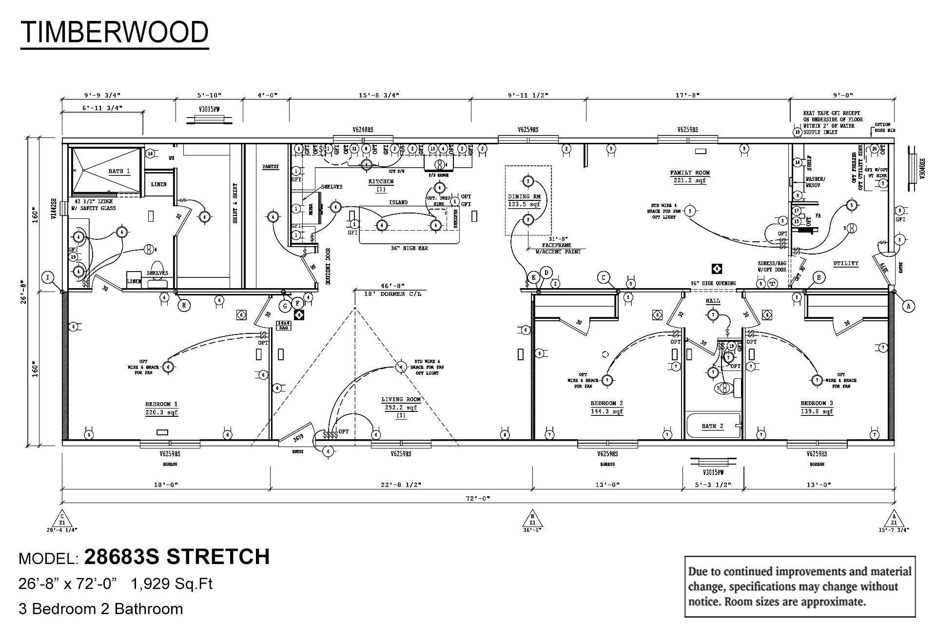 Timberwood 28683S Stretch Layout