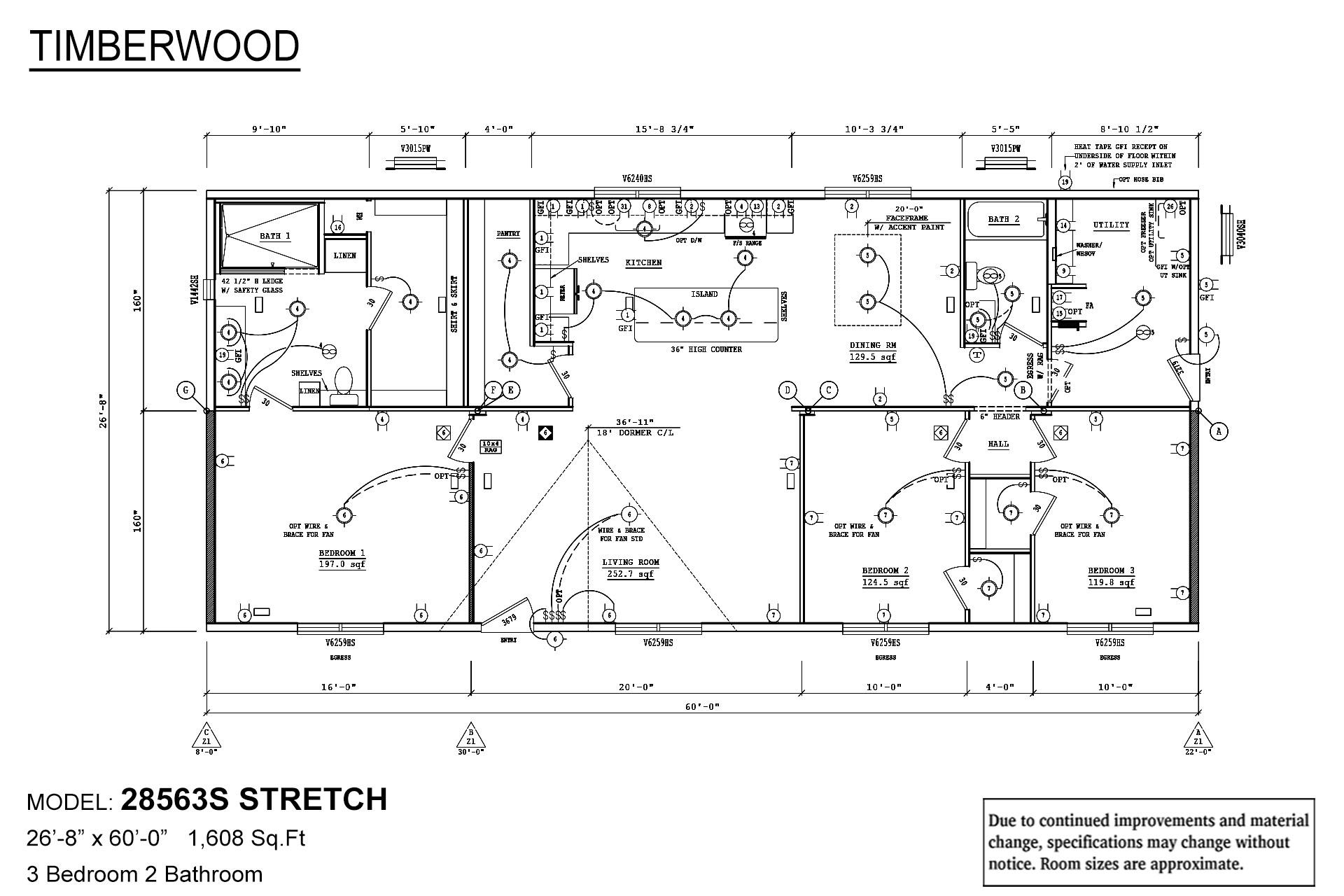 Timberwood 28563S Stretch Layout