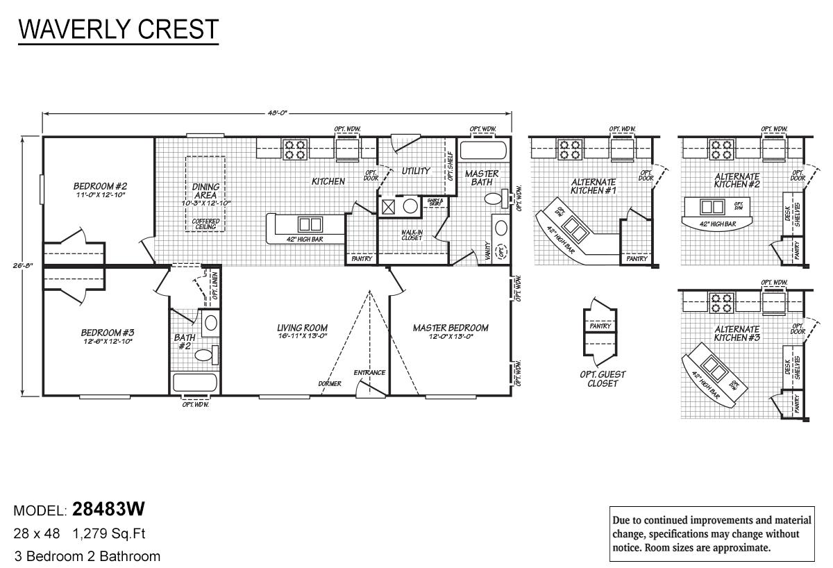 Waverly Crest - 28483W (Alt Kitchen #3)