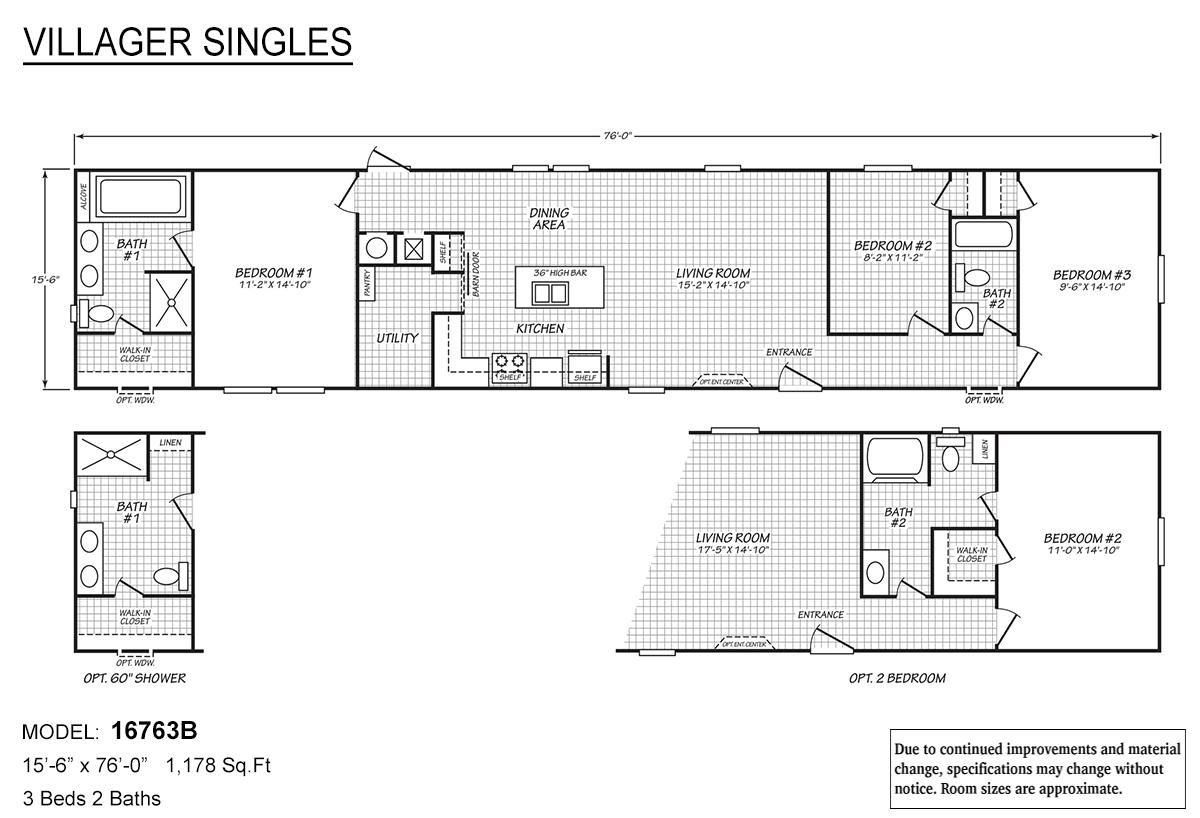 Villager Singles 16763B Layout