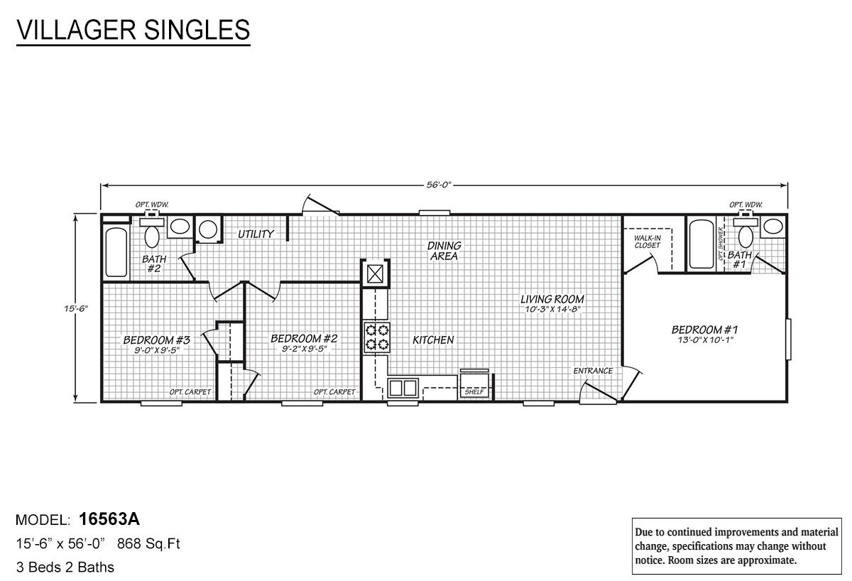 Villager Singles - 16563A