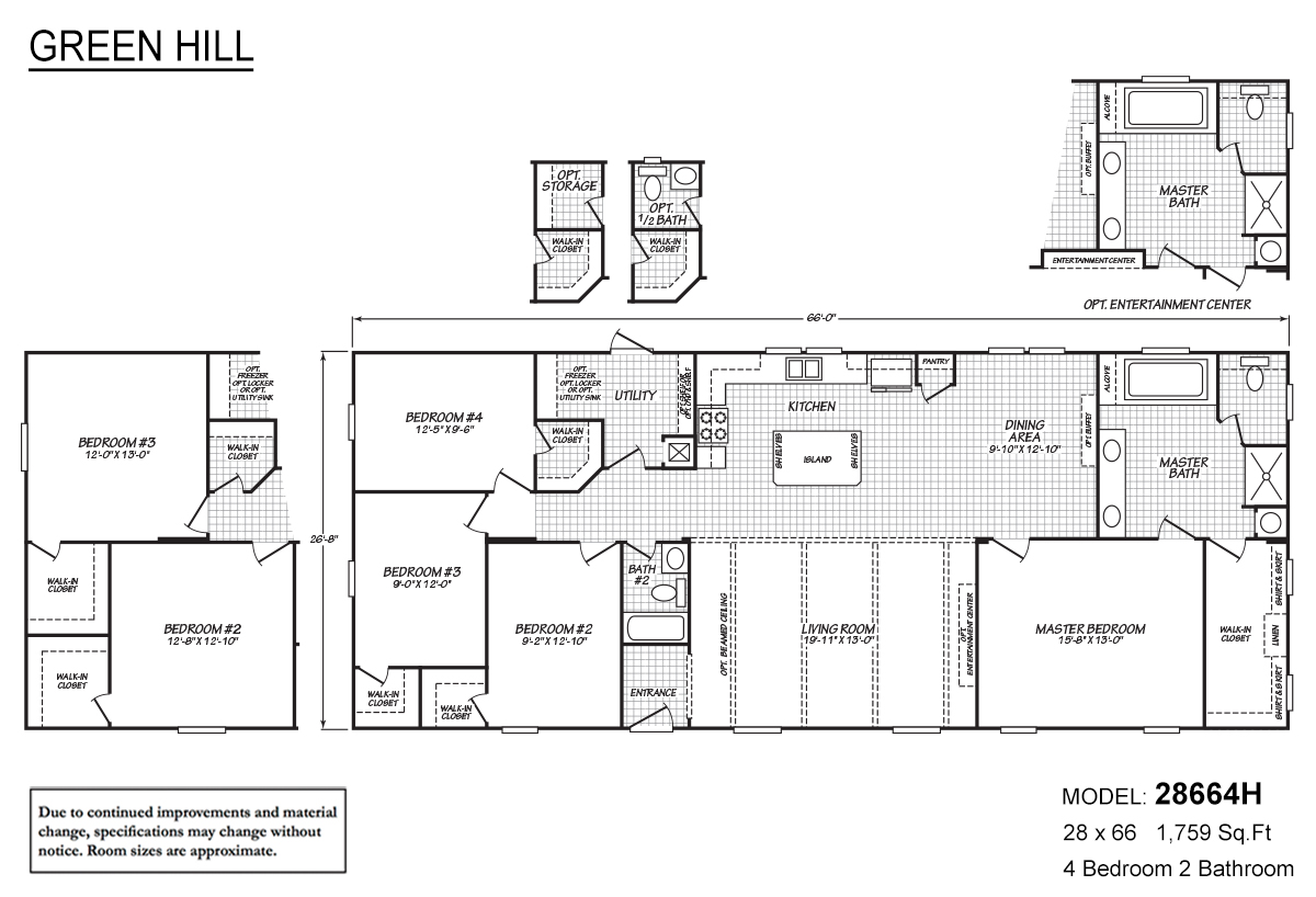 Green Hill 28664h By Fleetwood Homes