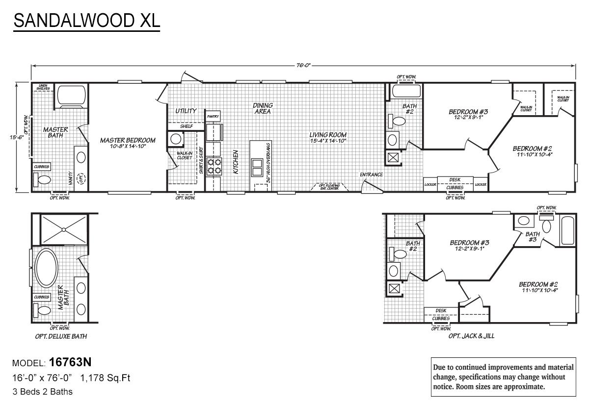 Sandalwood XL 16763N The Flash Layout