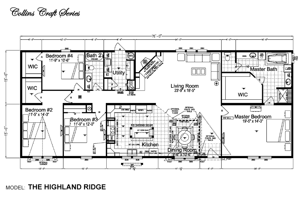 Collins Craft The Highland Ridge Layout