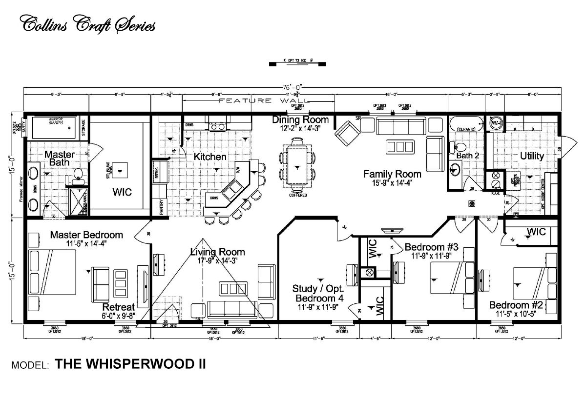 Collins Craft The Whisperwood II Layout