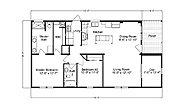 Palm Harbor Plant City Cottage Farmhouse LS28522J Layout