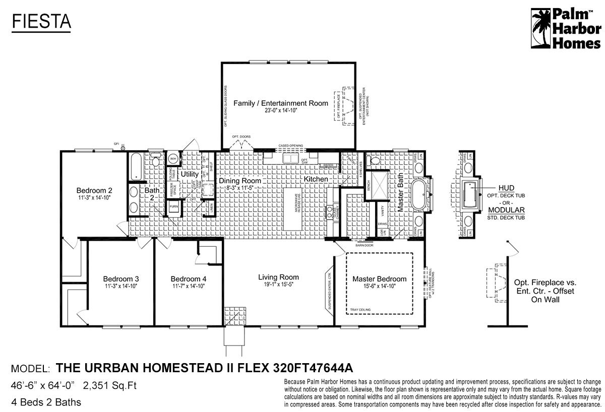 Fiesta The Urban Homestead II Flex 320FT47644A Layout
