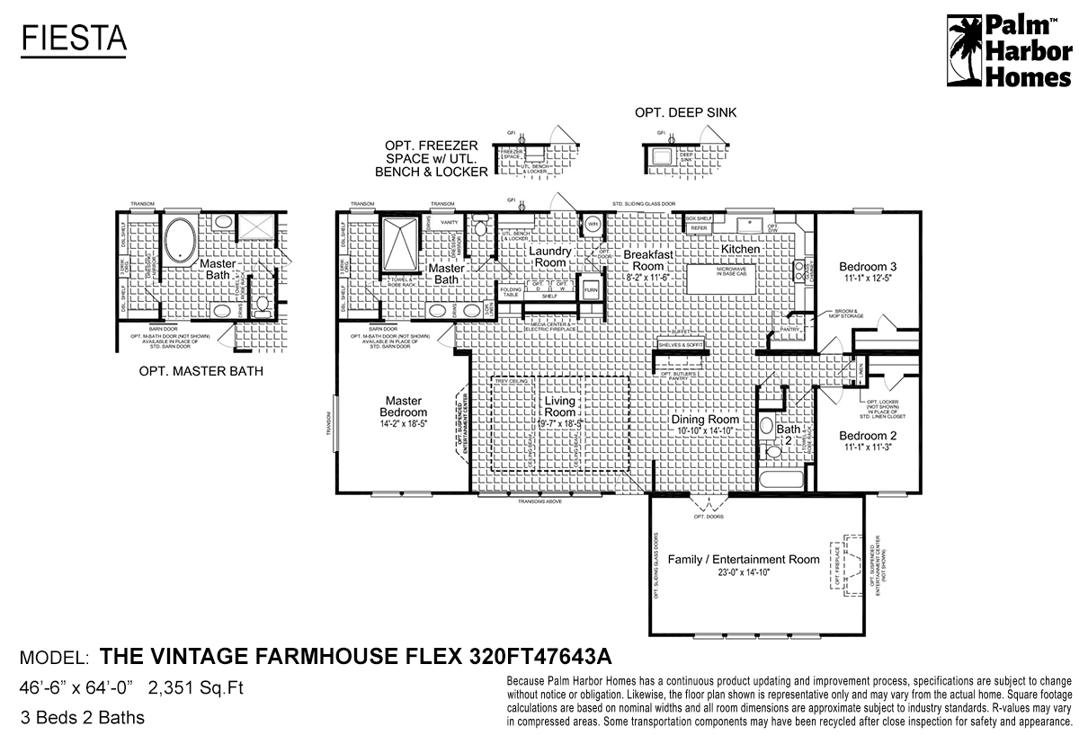 Fiesta The Vintage Farmhouse Flex 320FT47643A Layout