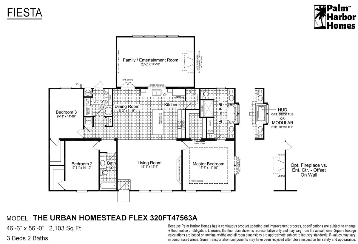 Fiesta The Urban Homestead Flex 320FT47563A Layout