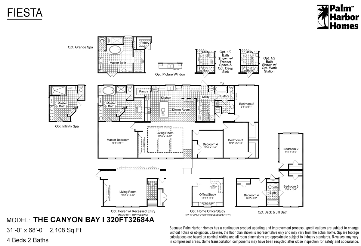 Fiesta The Canyon Bay I 320FT32684A Layout