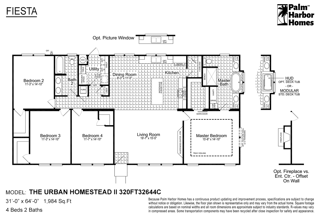 Fiesta The Urban Homestead II 320FT32644C Layout