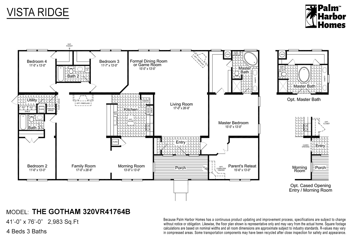 Vista Ridge The Gotham 320VR41764B Layout