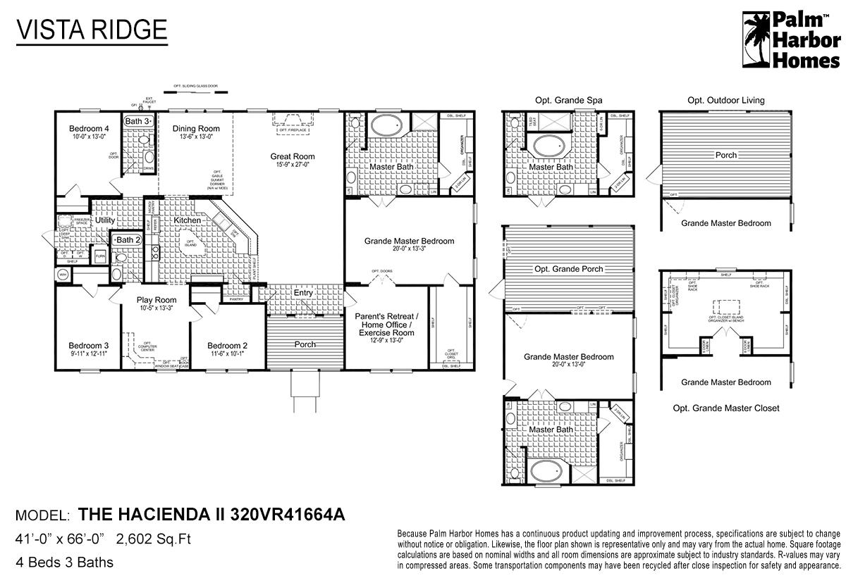 Vista Ridge The Hacienda II 320VR41664A Layout