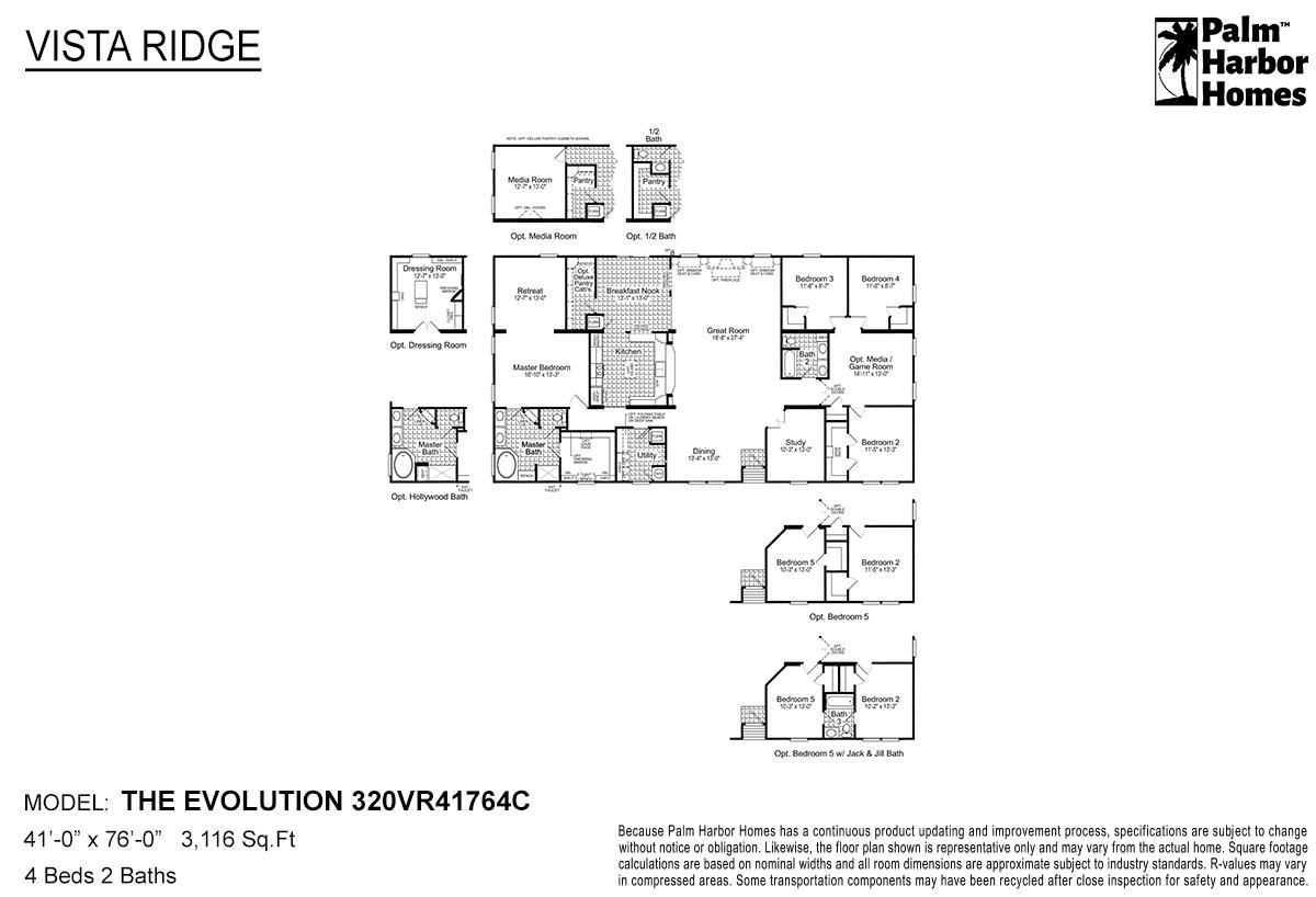 Vista Ridge The Evolution 320VR41764C Layout