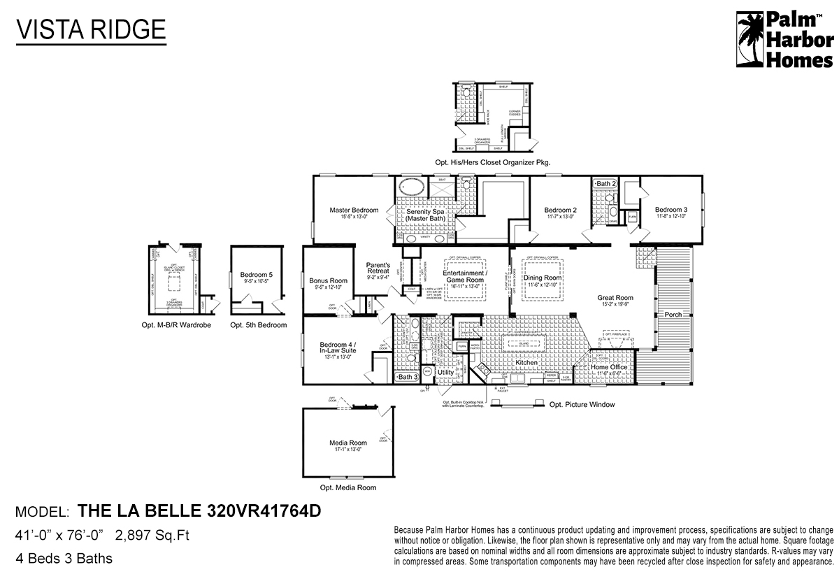 Vista Ridge The La Belle 320VR41764D Layout