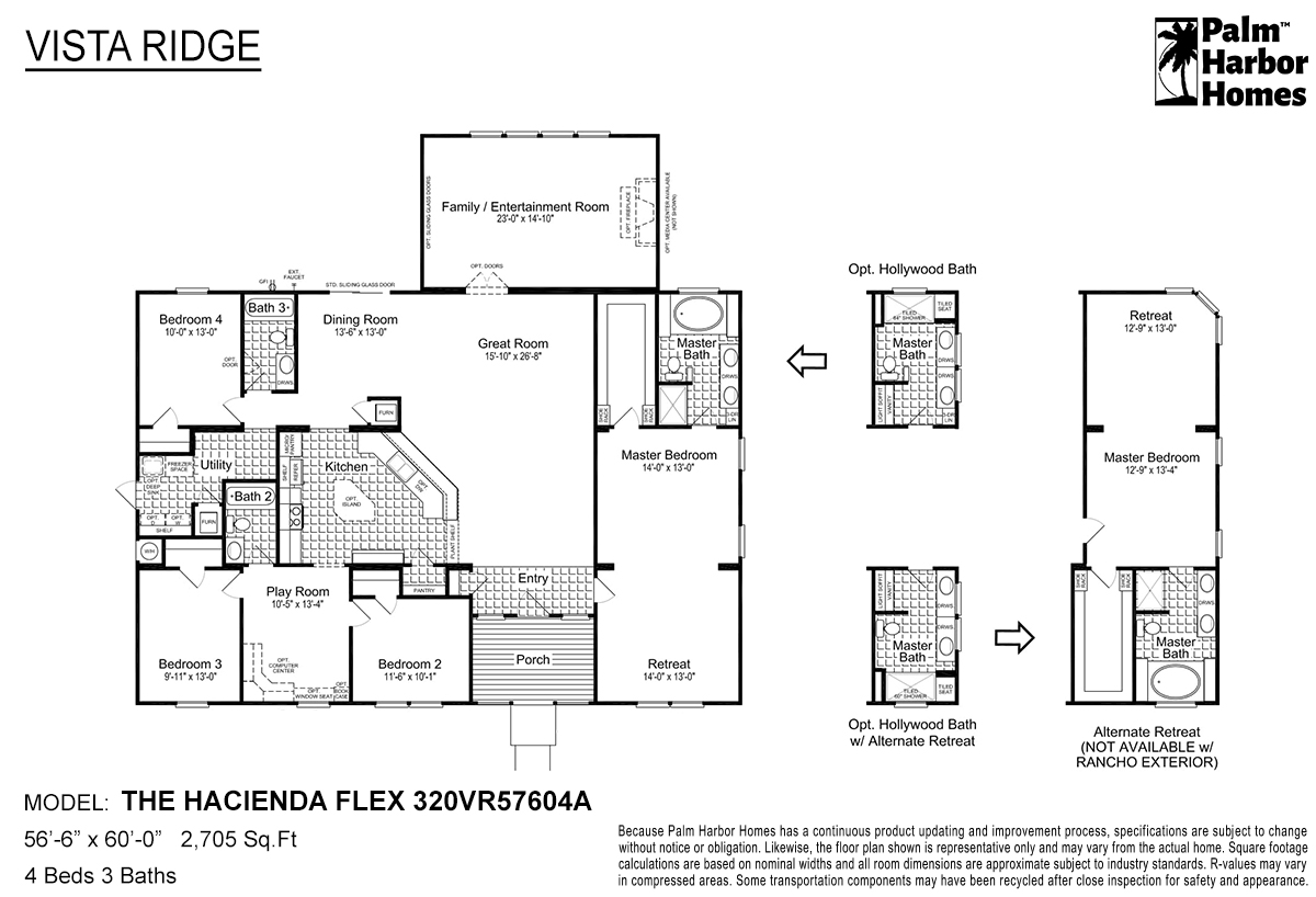 Vista Ridge - The Hacienda Flex 320VR57604A